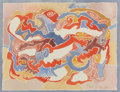 Works on Paper, Bror Utter (American, 1913-1993). Aerial View, 1985. Watercolor on paper. 6 x 8 inches (15.2 x 20.3 cm) (sight). Signed ...