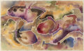 Texas:Early Texas Art - Drawings & Prints, Bror Utter (American, 1913-1993). Lavender Abstract, 1985.Watercolor on paper. 5-3/4 x 9-1/4 inches (14.6 x 23.5 cm) (s...