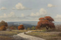 Paintings, C.P. Montague (American, 20th Century). Texas Summer Landscape. Oil on canvas. 24 x 36 inches (61.0 x 91.4 cm). Signed l...