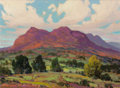 Fine Art - Painting, American:Contemporary   (1950 to present)  , Dwight Clay Holmes (American, 1900-1986). Bluebonnets on theBorgaurd Ranch and Sedona, Arizona (two works). Oil on... (Total: 2 )