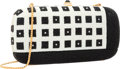 "Luxury Accessories:Bags, Judith Leiber Full Bead Black & White Crystal Grid MinaudiereEvening Bag. Excellent Condition. 7"" Width x 3.5""Height..."