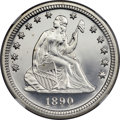Proof Seated Quarters, 1890 25C PR67+ Cameo NGC. Briggs 3-C....