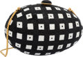 "Luxury Accessories:Accessories, Judith Leiber Full Bead Black & White Crystal Egg MinaudiereEvening Bag. Excellent Condition. 5.5"" Width x 3.5"" x 3""..."