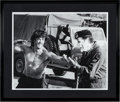 "Movie/TV Memorabilia:Photos, A Black and White Photograph Related to ""Rambo.""..."