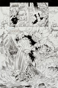 Original Comic Art:Splash Pages, Scot Eaton and Kim DeMulder Swamp Thing #133 Splash Page 3Original Art (DC, 1993)....