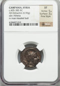 Ancients:Greek, Ancients: CAMPANIA. Hyria. Ca. 405-385 BC. AR stater or nomos (6.96gm)....