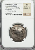 Ancients:Greek, Ancients: PAMPHYLIA. Side. Ca. 145-125 BC. AR tetradrachm (15.70gm)....