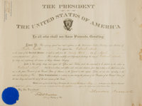 Theodore Roosevelt Signed Military Appointment