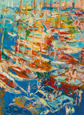Illustration:Sporting, LeRoy Neiman (American, 1921-2012). St. Tropez, 1962. Oil onboard. 31-3/4 x 23-1/2 inches (80.6 x 59.7 cm). Signed, dat...