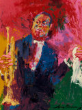 Paintings, LeRoy Neiman (American, 1921-2012). Louis Armstrong, 1968. Oil on board. 48-1/4 x 36-3/4 inches (122.6 x 93.3 cm). Signe...