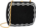 "Luxury Accessories:Bags, Judith Leiber Full Bead Black & White Crystal Square MinaudiereEvening Bag. Excellent Condition. 5"" Width x 4.5""Heig..."