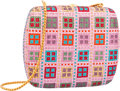 "Luxury Accessories:Bags, Judith Leiber Full Bead Pink & Red Crystal Square MinaudiereEvening Bag. Excellent Condition. 5"" Width x 4.5"" Height..."