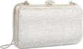 "Luxury Accessories:Bags, Judith Leiber Full Bead Silver Crystal Rectangular MinaudiereEvening Bag. Very Good to Excellent Condition. 5"" Width..."