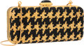 """Luxury Accessories:Accessories, Judith Leiber Full Bead Black & Gold Crystal RectangularMinaudiere Evening Bag. Very Good to Excellent Condition.6"""" ..."""