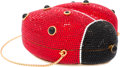 "Luxury Accessories:Accessories, Judith Leiber Full Bead Black & Red Crystal Ladybug Minaudiere Evening Bag. Excellent Condition. 5"" Width x 4"" Length ..."