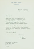 Autographs:U.S. Presidents, Dwight D. Eisenhower Typed Letter Signed...