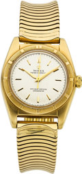 Movie/TV Memorabilia:Instruments , Rolex 18k Gold Bubbleback, Ref. 5011, 18k Band...