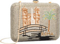 "Luxury Accessories:Bags, Judith Leiber Full Bead Gray & Gold Crystal Roma MinaudiereEvening Bag. Excellent Condition. 6"" Width x 4.75"" Height..."