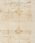 Autographs:Statesmen, Tennessee Governor William Carroll Signed Land Grant....