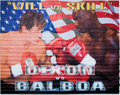 "Movie/TV Memorabilia:Props, A Two Piece Banner from ""Rocky Balboa"" (aka ""Rocky IV"")...."