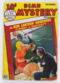 Pulps:Detective, Dime Mystery Magazine - September 1933 (Popular) Condition: GD/VG....