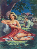 Pulp, Pulp-like, Digests, and Paperback Art, Rudy Nappi (American, 1923-2015). The Men She Knew, paperbackcover, 1951. Oil on board. 17.5 x 13.5 in. (sight). Not si...(Total: 2 Items)