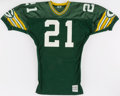 Football Collectibles:Uniforms, 1987-88 Brent Fullwood Game Issued Green Bay Packers Jersey....