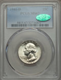 Washington Quarters, 1941-D 25C MS67 PCGS. CAC....