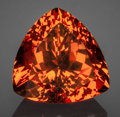 Gems:Faceted, Fine Gemstone: Spessartine Garnet - 7.44 Ct.. Mtwara Region,Tanzania. ...