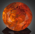 Gems:Faceted, Fine Gemstone: Mandarin Garnet - 8.72 Ct.. Outomongu Mine,Marienfluss, Kunene Region, Namibia. ...