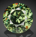 Gems:Faceted, Fine Gemstone: Demantoid Garnet - 5.74 Ct.. Parrot Mine, Tubussis Farm 22, Karibib District, Erongo Region, Namibia. ...