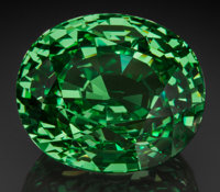 Exceptional Gemstone: Tsavorite Garnet - 65.72 Ct. Block D, Merelani Hills, Lelatema Mts, Simanjiro District, M