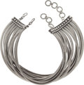 "Luxury Accessories:Accessories, Christian Dior Silver Multi Strand Masai Necklace by John Galliano, 1997. Excellent Condition. 12"" Length. ..."