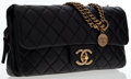 """Luxury Accessories:Bags, Chanel Black Quilted Lambskin Leather Flap Bag with Brass Hardware.Very Good Condition. 10"""" Width x 5"""" Height x 2"""" Depth,..."""