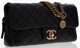 """Chanel Black Quilted Lambskin Leather Flap Bag with Brass Hardware Very Good Condition 10"""" Width x 5"""" Height x..."""