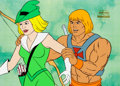 Animation Art:Production Cel, He-Man and the Masters of the Universe Bowena Production Cel(Filmation, 1984).... (Total: 3 Items)