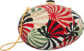 "Luxury Accessories:Bags, Judith Leiber Full Bead Multicolor Crystal Spiral Egg Minaudiere Evening Bag. Very Good to Excellent Condition. 5.5"" W..."