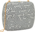 """Luxury Accessories:Bags, Judith Leiber Full Bead Silver & Gray Crystal Maze MinaudiereEvening Bag. Excellent Condition. 6"""" Width x 4.5""""Height..."""
