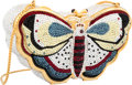 "Luxury Accessories:Accessories, Judith Leiber Full Bead Multicolor Crystal Moth Minaudiere EveningBag. Very Good to Excellent Condition. 5.5"" Widthx..."