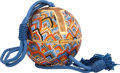 "Art Glass:Daum, Judith Leiber Full Bead Multicolor Crystal Sphere MinaudiereEvening Bag. Excellent Condition. 5"" Width x 5"" Height x..."