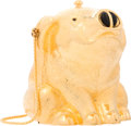 "Luxury Accessories:Accessories, Judith Leiber Gold Pig Minaudiere Evening Bag. Very Good toExcellent Condition. 4"" Width x 4"" Height x 3"" Depth...."