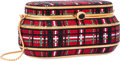 "Luxury Accessories:Bags, Judith Leiber Full Bead Red & Black Crystal Tartan BoxMinaudiere Evening Bag. Very Good to Excellent Condition.5"" Wi..."