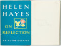 Books:Biography & Memoir, Helen Hayes. SIGNED. On Reflection. New York: M. Evans andCompany, [1968]....
