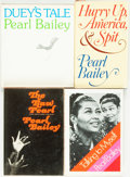 Books:Biography & Memoir, Pearl Bailey. SIGNED/INSCRIBED. Group of Four Titles. New York:Harcourt, Brace, Jovanovich / Harcourt, Brace and World, [v...(Total: 4 Items)