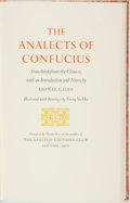 Books:Philosophy, Tseng Yu-Ho, illustrator. SIGNED/LIMITED. Confucious. The Analects of Confucius. New York: The Limited Editions ...