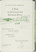 Books:Americana & American History, R. J. Holden, illustrator. SIGNED/LIMITED. Henry David Thoreau.A Week on the Concord and Merrimack Rivers. Limi...