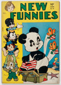 Golden Age (1938-1955):Funny Animal, New Funnies #76 (Dell, 1943) Condition: VG....