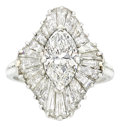 Estate Jewelry:Rings, Diamond, Platinum Ring, Oscar Heyman Bros.. ...