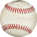 Autographs:Baseballs, 1970's Legendary Sluggers Multi Signed Baseball with DiMaggio,Mantle, Aaron & More....
