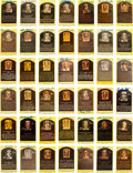 Baseball Collectibles:Others, 1970's-80's Baseball Hall of Fame Signed Postcards Lot of 42....